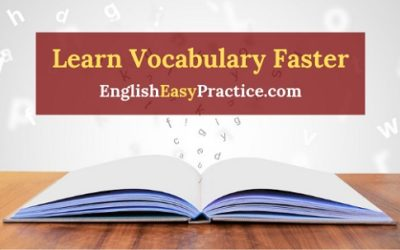 How to Learn English Vocabulary Words Faster